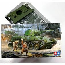 35149 1/35 Tamiya модель Советского танка Т-34, производства Челябинского Тракторного Завода 1943 г.