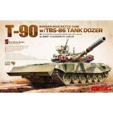 "TS-014 ""ТАНК"" RUSSIAN MAIN BATTLE TANK T-90 W/TBS-86 TANK DOZER 1/35"