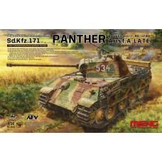 "TS-035 ""ТАНК"" GERMAN MEDIUM TANK SD.KFZ.171 PANTHER AUSF.A LATE 1/35"