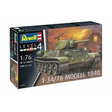 REVELL СОВЕТСКИЙ ТАНК Т-34/76 1940 (1:76