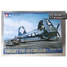 Палубный истребитель Vought F4U-1D Corsair и аэродромный тягач