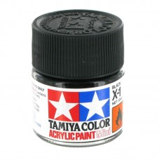 X-1 BLACK GLOSS, ACRYLIC PAINT MINI 10 ML. (ЧЁРНЫЙ ГЛЯНЦЕВЫЙ) TAMIYA