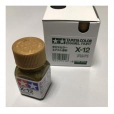 X-12 GOLD LEAF METALLIC, ENAMEL PAINT 10 ML. (ЗОЛОТО, МЕТАЛЛИК) TAMIYA