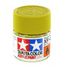 XF-4 YELLOW GREEN FLAT, ACRYLIC PAINT MINI 10 ML. (ЖЁЛТО-ЗЕЛЁНЫЙ МАТОВЫЙ) TAMIYA