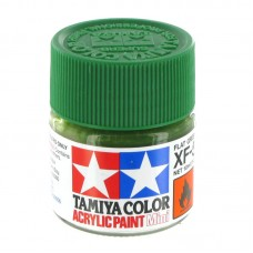 XF-5 FLAT GREEN, ACRYLIC PAINT MINI 10 ML. (ЗЕЛЁНЫЙ МАТОВЫЙ) TAMIYA