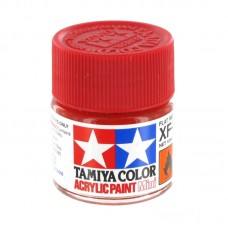 XF-7 FLAT RED, ACRYLIC PAINT MINI 10 ML. (КРАСНЫЙ МАТОВЫЙ) TAMIYA
