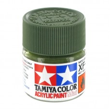 XF-67 NATO GREEN FLAT, ACRYLIC PAINT MINI 10 ML. (НАТО ЗЕЛЁНЫЙ МАТОВЫЙ) TAMIYA