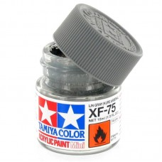 XF-75 IJN GRAY FLAT KURE ARSENAL, ACRYLIC PAINT MINI 10 ML. (СЕРЫЙ МАТОВЫЙ) TAMIYA