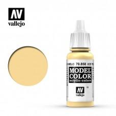70858  Vallejo Краска акриловая серия Model Color  Ледяной желтый/Ice Yellow