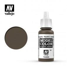 70872 Vallejo Краска акриловая Model Color Шоколадно-коричневый/Chocolate brown