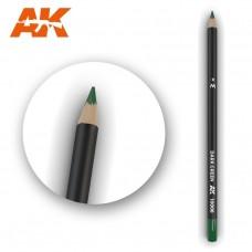 """Акварельный карандаш """"Темно-зеленый"""" / Watercolor Pencil Dark Green"""
