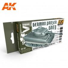 Набор акриловых красок PANZER GREY MODULATION SET (серый танковый, набор для модуляции из шести цветов)