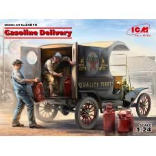 Доставка бензина, Развозной фургон Модель Т 1912 г. с американскими грузчиками.