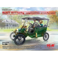 Model T 1911 Touring c американскими автолюбителями