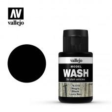 76518 Vallejo жидкость для тонировки модели ( смывка ) Model Wash Black / Черная 35 мл.