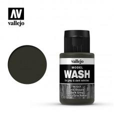76517 Vallejo жидкость для тонировки модели ( смывка ) Model Wash Dark Grey /Серая Темная 35 мл.