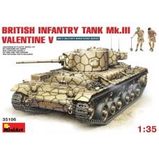 35106 MiniArt 1/35 Британский танк Mk.III Валентайн V с экипажем