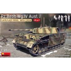 35344 Немецкий командирский танк Pz.Beob.Wg.IV Ausf. J (поздний) с экипажем