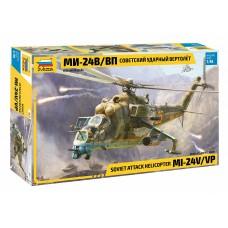 4823 Звезда Советский ударный вертолет Ми-24В/ВП масштаб 1/48