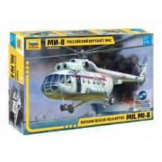 7254 Звезда Российский вертолёт МЧС МИ-8 масштаб 1/72