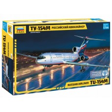7004 Звезда сборная модель Российский авиалайнер ТУ-154М масштаб 1/144
