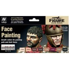 70119 Набор красок Vallejo Face Painting Set (8 цветов)