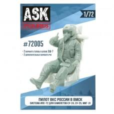 ASK72005 1/72 Пилот ВКС России в ВМСК (система ИПС-72, для самолетов семейства Су-24, Су-25, МиГ-31)