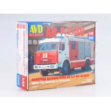 1269AVD AVDmodels Сборная модель пожарный автомобиль АЦ-3,2-40 (43253) масштаб 1/43