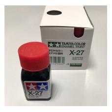 X-27 CLEAR RED GLOSS, ENAMEL PAINT 10 ML.(КРАСНЫЙ ПРОЗРАЧНЫЙ ГЛЯНЦЕВЫЙ) TAMIYA