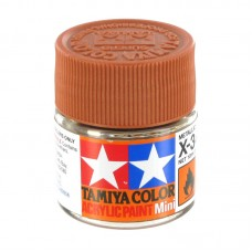 X-34 METALLIC BROWN, ACRYLIC PAINT MINI 10 ML. (КОРИЧНЕВЫЙ МЕТАЛЛИК) TAMIYA