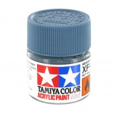 XF-18 MEDIUM BLUE FLAT, ACRYLIC PAINT MINI 10 ML. (СРЕДНЕ-СИНИЙ МАТОВЫЙ) TAMIYA