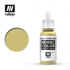 70806 Vallejo Краска акриловая серия Model Color Немецкий желтый / German Yellow