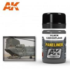 """Жидкость """"PANELINER FOR BLACK CAMOUFLAGE"""" (панельные линии для чёрных камуфляжей)"""