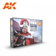AK11601 Набор акриловых красок Non Metallic Metal: Steel Set
