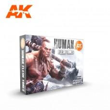AK11603 Набор акриловых красок Human Flesh Tones