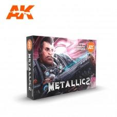 AK11608 Набор акриловых красок Metallics Colors Set