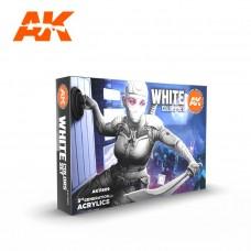AK11609 Набор акриловых красок White Colors Set