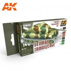 Набор акриловых красок GERMAN GREEN AND BROWN MODULATION SET