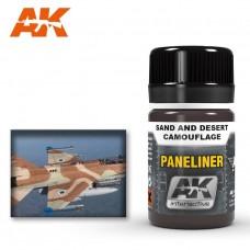 """Жидкость """"PANELINER FOR SAND AND DESERT CAMOUFLAGE"""" (панельные линии для песочных и пустынных камуфляжей)"""