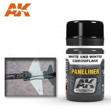 """Жидкость """"PANELINER FOR WHITE AND WINTER CAMOUFLAGE"""" (панельные линии для белых и зимних камуфляжей)"""