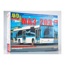 4045AVD AVD MODELS ГОРОДСКОЙ АВТОБУС МАЗ-203 масштаб 1/43