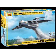 7029 Звезда Российский транспортно-десантный самолет Ил-76 ТД МЧС России масштаб 1/144