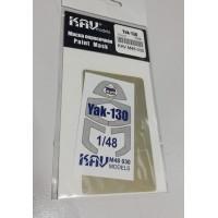 KAV M48 030 Окрасочная маска для Як-130 Звезда масштаб 1/48