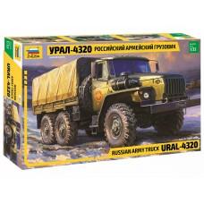 3654 Звезда Российский армейский грузовик Урал-4320 масштаб 1/35