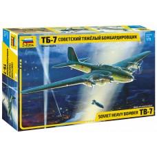 7291 Звезда Советский тяжелый бомбардировщик ТБ-7 масштаб 1/72