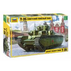 3667 Звезда сборная модель Советский тяжелый танк Т-35 масштаб 1/35