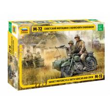 3639 Советский мотоцикл М-72 с коляской и экипажем